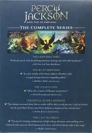Percy Jackson Barnes And Noble Percy Jackson And The Olympians 5 Book Paperback Boxed Set New