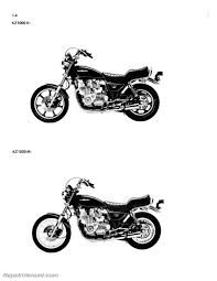 1981 1982 kawasaki kz1000 kz1100 motorcycle repair service manual