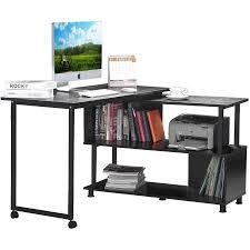 Convertible Desk Rotatable L Shaped Computer Desk Convertible Office Corner Desk