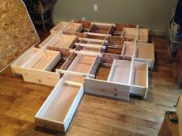 Plans To Build A Platform Bed With Storage by Diy Queen Size Bed Frame With Storage Storage Decorations