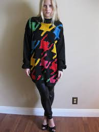 80s sweater dress candice clark vintage 80s colorful sweater leather