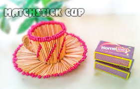 how to make matchstick cup youtube