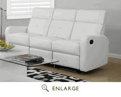 White Reclining Sofa Sofa White Bonded Leather Match Monarch Specialty I 85wh 3