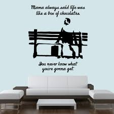 film tv movie quotes wall stickers iconwallstickers co uk life is like a box of chocolates forrest gump tv movie wall sticker art decals
