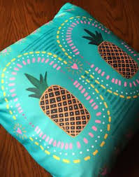 elise u0026 james home gold and blue pineapple decorative pillow