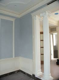 finish carpentry crown molding installation and painting coffer