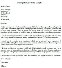 catering staff cover letter example learnist org