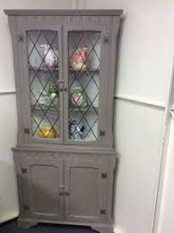 Mahogany Display Cabinets With Glass Doors by White Painted Wooden Display Cabinet Come With Clear Glass Door