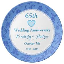 65 wedding anniversary 65 wedding anniversary plates zazzle ca