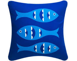 Fish Home Decor Accents Fish Throw Pillow Etsy
