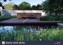 Patio Pond by Chelsea Flower Show 2001 Design Tom Stuart Smith Contemporary