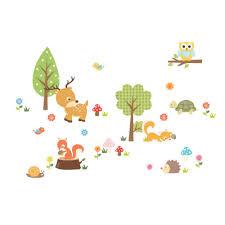 Forest Nursery Wall Decals by Aliexpress Com Buy Cute Animals Wall Sticker Zoo Tiger Owl