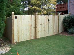 wood board on board backyard fence mossy oak fence company
