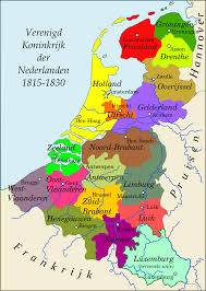 Holland Map United Kingdom Of The Netherlands 1815 1830 Ruled By King Willem
