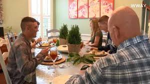 families in carolina host marines for thanksgiving