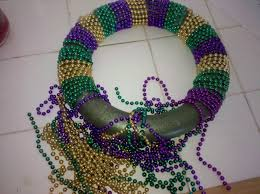 mardi gras bead wreath the thrills keepers tales don t throw out your mardi gras