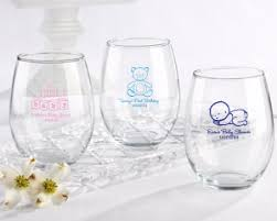 wine glass gifts personalized baby 15 oz stemless wine glass corner stork baby gifts