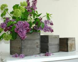 Wooden Centerpiece Boxes by Wood Box Planter Etsy