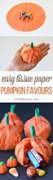 halloween favours calabazas de papel rellenas de caramelos manualidades halloween