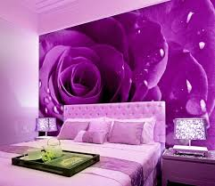 Bedroom Purple Wallpaper - aliexpress com buy purple rose beautiful backdrop bedroom 3d