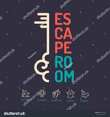 reallife room escape quest game poster stock vector 460867633