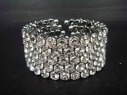 rhinestone cuff bracelet images Bridal 5 row rhinestone crystal bracelet cuff br165 from my free range jpg