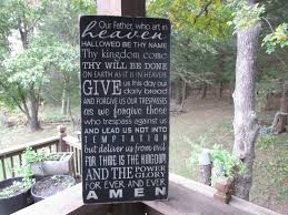 primitive sign rustic sign home decor lords prayer sign