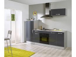 cuisine complete pas cher conforama bloc cuisine l 240 cm rumba coloris gris silver vente de les