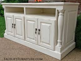 Media Console With Hutch Hutches Cabinets U0026 Buffets Painted Glazed U0026 Distressed