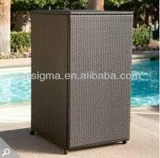 outdoor wicker storage cabinet 2014 all weather wicker vertical outdoor furniture wicker deck box