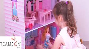 Barbie Dolls House Furniture Girls Fun Dolls House Play Time Dollhouse Mansion Baby Barbie Toy