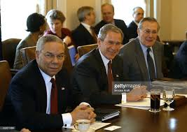Cabinet White House Colin Powell George W Bush And Donald Rumsfeld Pictures Getty