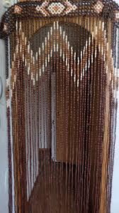Beaded Doorway Curtains Vintage Wood Curtain Door Beads Beaded Curtains Beaded Door
