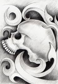 art skull head tattoo stock illustration image of dead 62988949