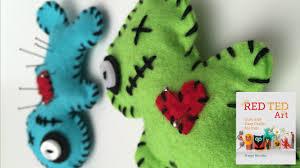 Making Pin Cushions How To Make A Voodoo Doll Pincushion Youtube