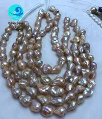 natural pink pearl necklace images 14mm pink baroque pearl strands natural pink color baroque shaped jpg