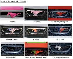mustang grill emblems painted pony grille emblem cover for 2010 2012 mustang