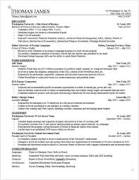Resume Examples For Someone With No Experience by Investment Banking Resume Template Wall Street Oasis