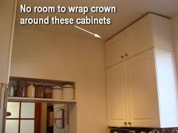 scribe molding for kitchen cabinets how to design and install an improvised kitchen crown molding one