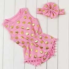 2018 newborn summer clothes baby tassel romper sets baby