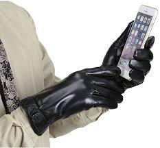 marsue men u0027s full hand touchscreen leather gloves premium