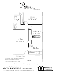 Sample Of Floor Plan by Leisure Village Camarillo Floor Plans