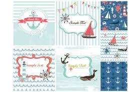 nautical card templates sea patterns card templates creative