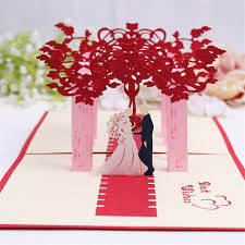 card for from groom doreenbeads creative 3d cards wedding blessing card and
