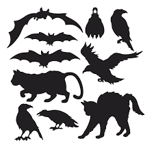 halloween hanging bat silhouette