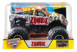 monster jam trucks for sale amazon com wheels monster jam zombie die cast vehicle 1 24