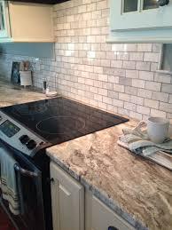 tile sheets for kitchen backsplash brown granite and marble tile sheet backsplash our new