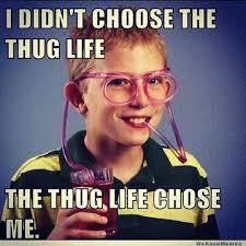 Funny Gangster Meme - funny gangster meme i didn t choose the thug life the thug life