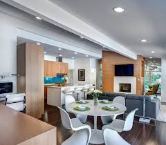 modern open kitchen dining room contemporary modern open kitchen design with led