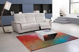 tousalon canapé canapé home cinéma en cuir blanc tousalon chartreuse collection